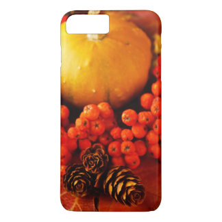 Harvested pumpkins with fall leaves iPhone 8 plus/7 plus case