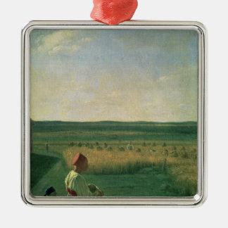 Harvesting in Summer, 1820s Christmas Ornament