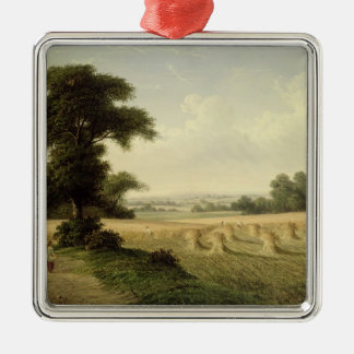 Harvesting (oil on canvas) christmas ornament