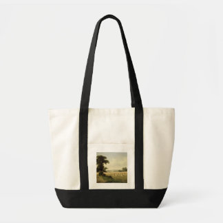 Harvesting (oil on canvas) tote bag