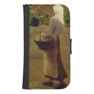 Harvesting Potatoes Samsung S4 Wallet Case