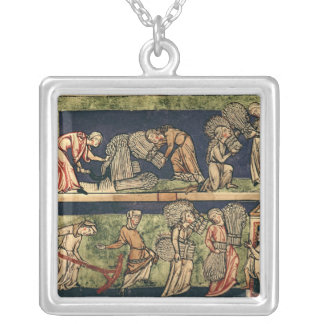 Harvesting, Rhine School Silver Plated Necklace