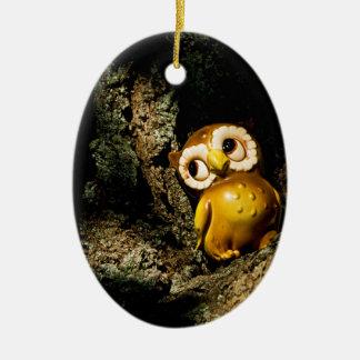Harvey the Owl I Ceramic Oval Decoration
