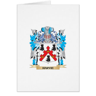 Harvie Coat of Arms - Family Crest Greeting Card