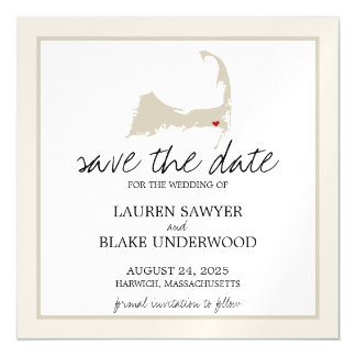 Harwich Cape Cod Wedding Save the Date Magnetic Invitations