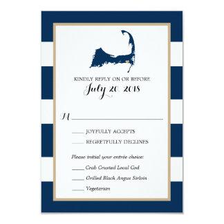 Harwich Cape Cod with heart | Wedding RSVP menu Card