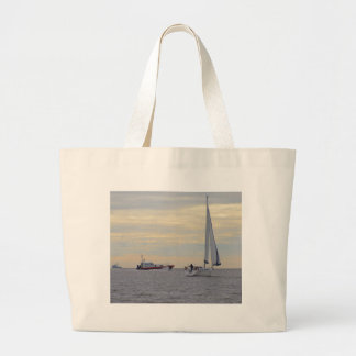 Harwich Haven Pilot Boat At Sea Canvas Bags