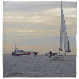 Harwich Haven Pilot Boat At Sea Printed Napkins