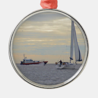 Harwich Haven Pilot Boat At Sea Ornament