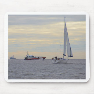 Harwich Haven Pilot Boat At Sea Mouse Pads