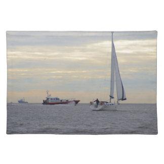 Harwich Haven Pilot Boat At Sea Cloth Place Mat