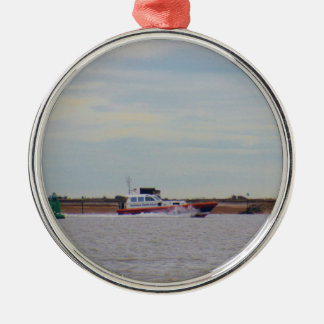 Harwich Haven Pilot Boat Silver-Colored Round Decoration