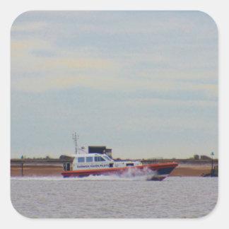 Harwich Haven Pilot Boat Square Sticker