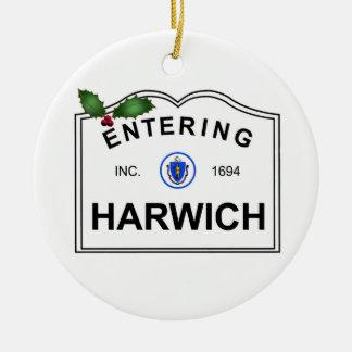 Harwich MA Round Ceramic Decoration