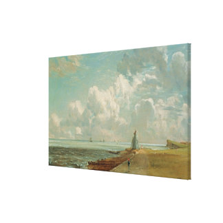 Harwich, The Low Lighthouse and Beacon Hill, c.182 Canvas Print