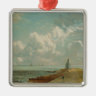 Harwich, The Low Lighthouse and Beacon Hill, c.182 Silver-Colored Square Decoration