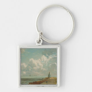 Harwich, The Low Lighthouse and Beacon Hill, c.182 Silver-Colored Square Key Ring