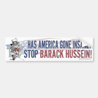 Has America Gone Insane? Uncle Sam Bumper Sticker