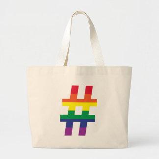 Hash Tag Gay Pride Jumbo Tote Bag