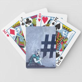 Hash tag Graffiti Bicycle Playing Cards