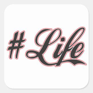 hash tag life sticker