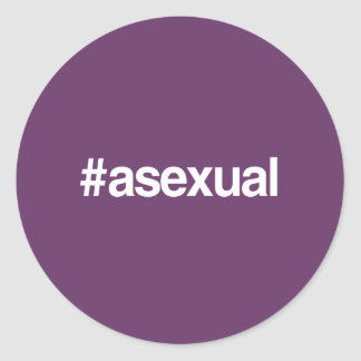 HASHTAG ASEXUAL ROUND STICKERS