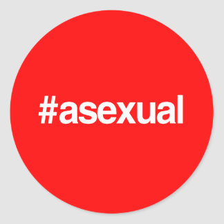 HASHTAG ASEXUAL ROUND STICKER