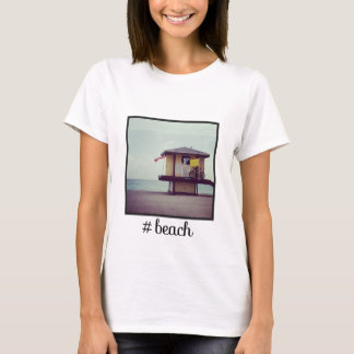 Hashtag Beach with Instagram Picture T-Shirt