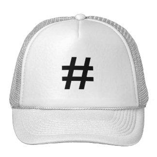 #HASHTAG - Black Hash Tag Symbol Trucker Hat