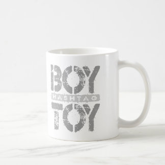Hashtag BOY TOY - A Lover For Social Sharing, Gray Basic White Mug