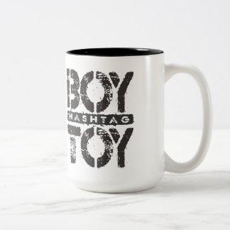 Hashtag BOY TOY - A Lover For Social Sharing, Onyx Two-Tone Mug