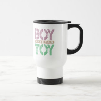 Hashtag BOY TOY - A Lover For Social Sharing, Plum Stainless Steel Travel Mug