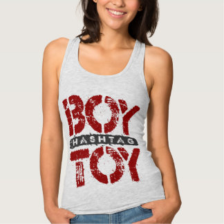 Hashtag BOY TOY - A Lover For Social Sharing, Red Tank Top