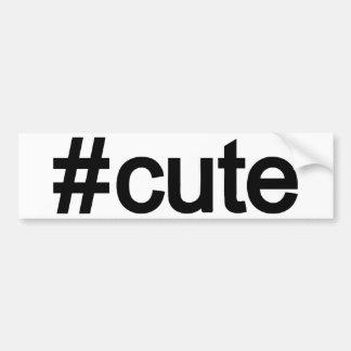 Hashtag Cute Bumper Sticker