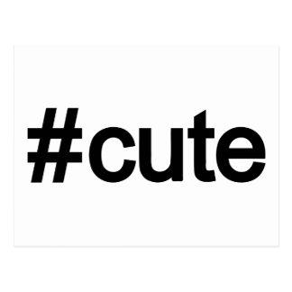 Hashtag # Cute Postcard