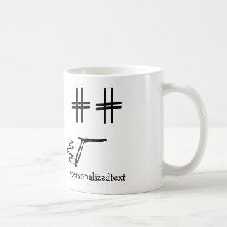 # Hashtag Dude Personalized Funny Social Media Basic White Mug