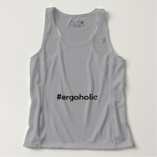 Hashtag ergoholic slogan tank top