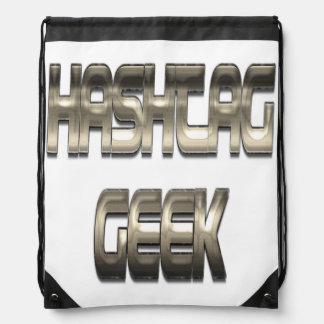 Hashtag Geek Chrome Cinch Bag