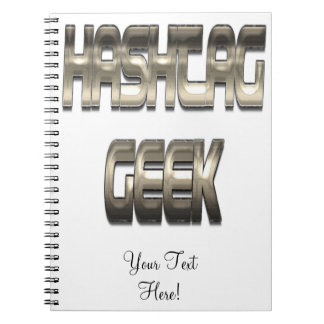 Hashtag Geek Chrome Spiral Note Book