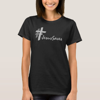Hashtag Grey Cross Jesus Saves (Dark) T-Shirt