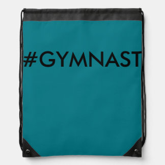 Hashtag Gymnast Draw String Bag Backpack