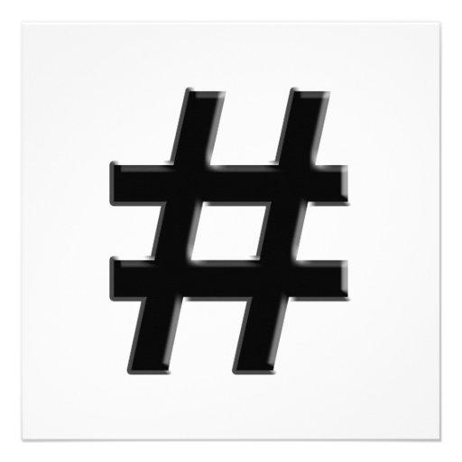 #HASHTAG - Hash Tag Symbol Invite