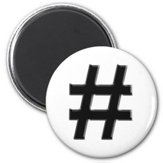 #HASHTAG - Hash Tag Symbol Fridge Magnet