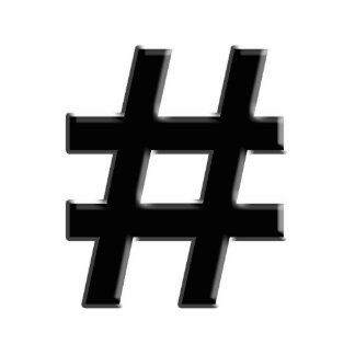 #HASHTAG - Hash Tag Symbol Standing Photo Sculpture