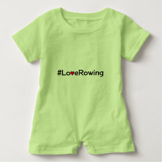Hashtag Love Rowing slogan Baby Bodysuit