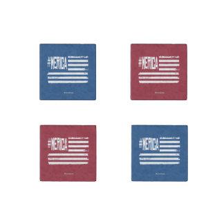 Hashtag 'Merica Flag Stone Magnet