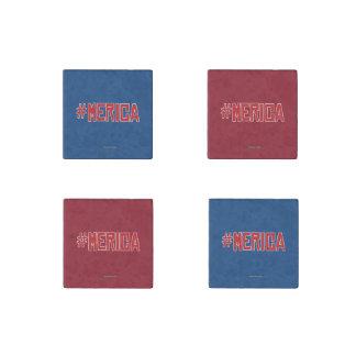 Hashtag Merica Stone Magnet