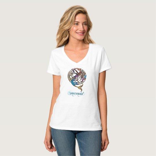 Hashtag Mermaid V-Neck T-Shirt