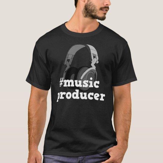 Hashtag Music Producer B&W Men's T-Shirt Design