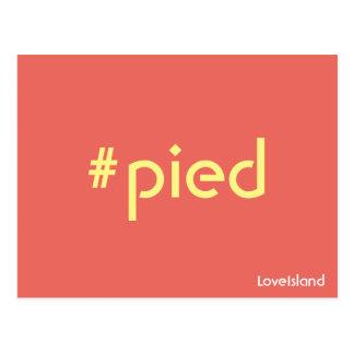 Hashtag Pied Love Island Postcard